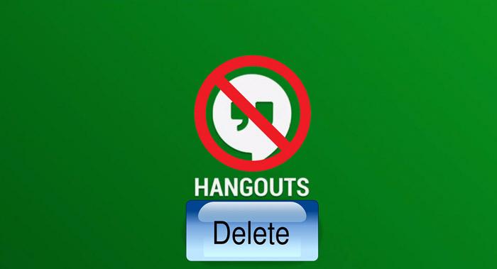 Как удалить Hangouts