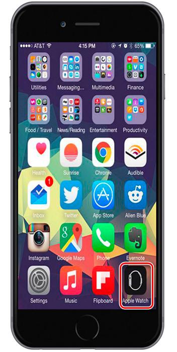 Иконка iWatch на Iphone6