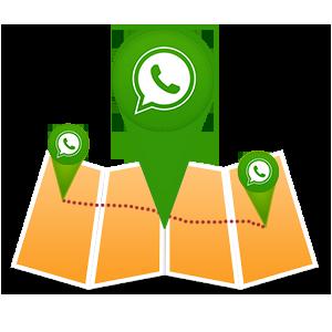 определить местоположение в WhatsApp