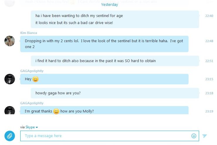 Чат Skype