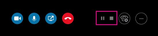 Панель управления записью Скайп Бизнес