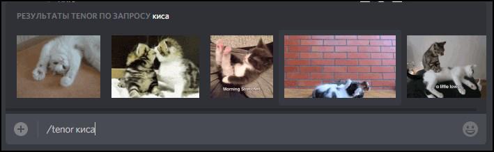 Поиск анимированных картинок в Дискорде