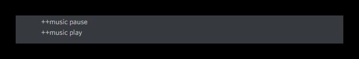 Просмотр операций регулирования включения и остановки песни Discord