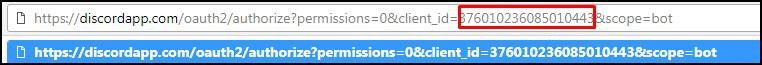 Ссылка для добавления бота на сервер в Дискорде