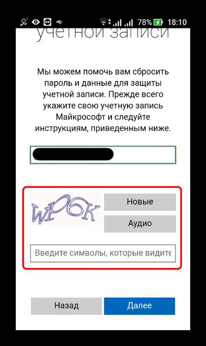 В Скайпе, ввод кода безопасности
