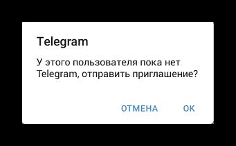 отправка приглашения Телеграмм