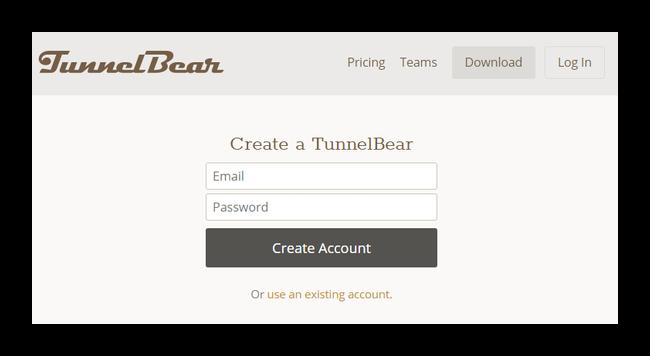 Быстрая регистрация в TunnelBear VPN для получения увеличенного трафика в Google Chrome