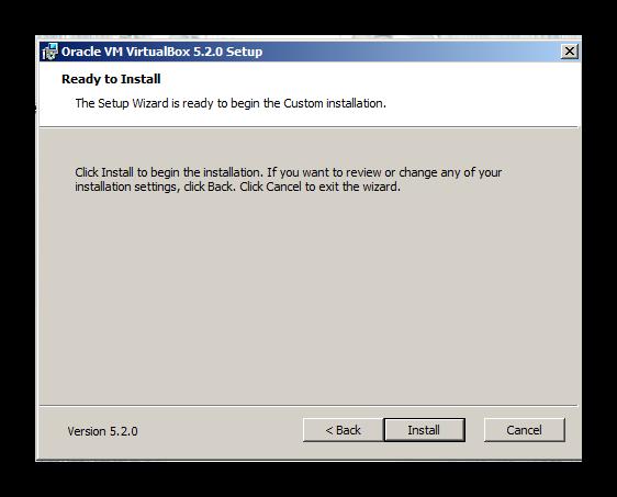 Начало установки виртуальной машины для дальнейшего запуска Дискорда на Windows XP