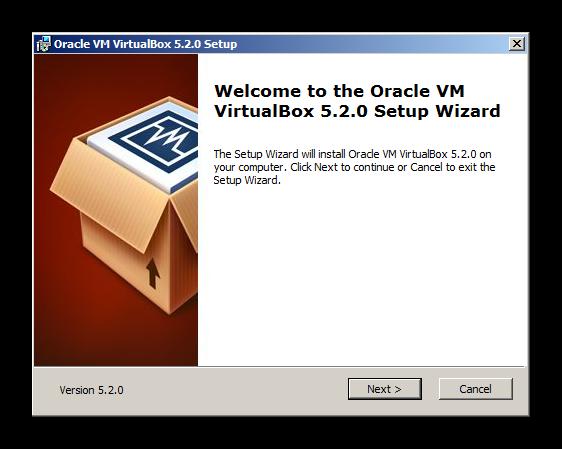 Начало установки виртуальной машины для установки Discord на Windows XP