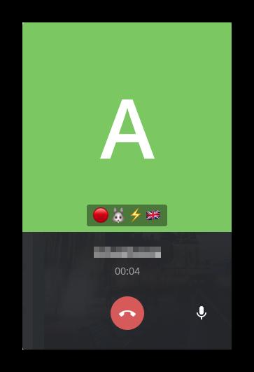 Окно разговора с контактом в программе Telegram