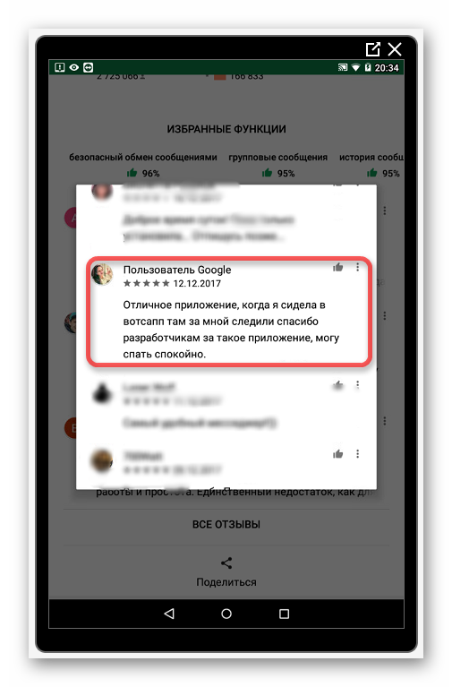 Отклик о безопасности Телеграмм