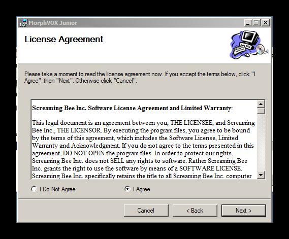 Пользовательское соглашение MorphVOX Junior для Дискорд