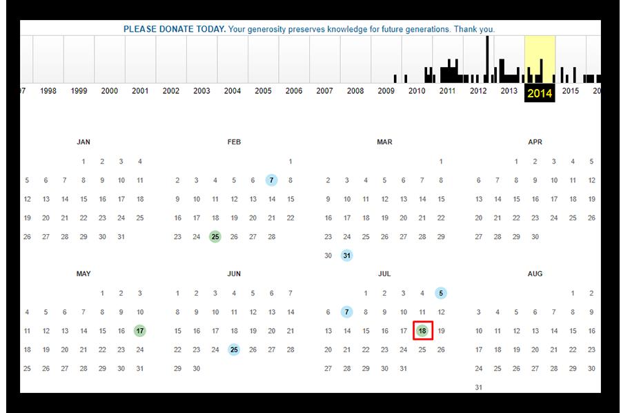 Просмотр графического календаря за 2014 год Друг Вокруг