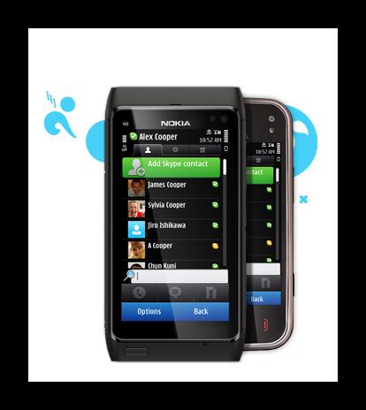 Реклама Skype для смартфонов Nokia на официальном сайте сервиса