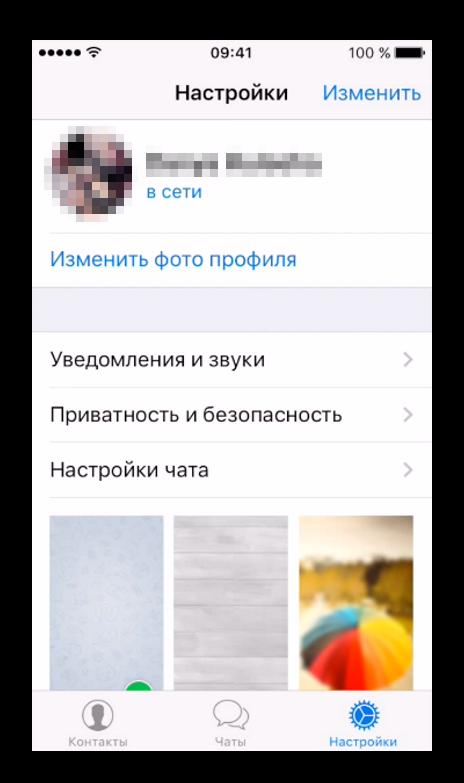 Руссифицированный интерфейс Телеграмм для Iphone