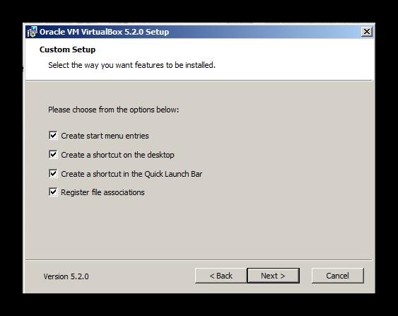 Создание ярлыков виртуальной машины для установки Discord на Windows XP