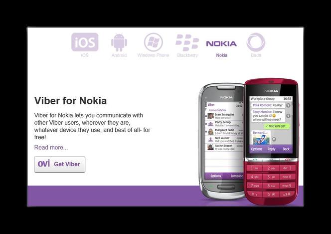 Специальное предложение Viber для Nokia