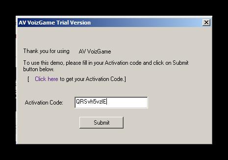 Ввод ключа активации для AV VoizGame Discord