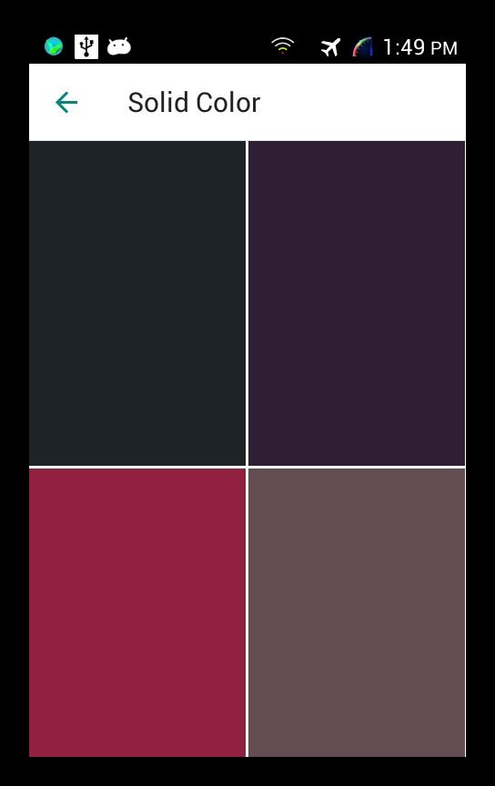 Выбираем цвет фона WhatsApp Mobile