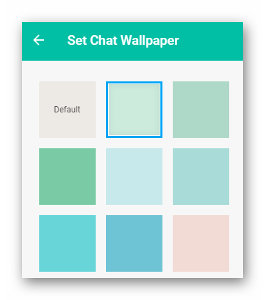 Выбираем цвет фона WhatsApp PC