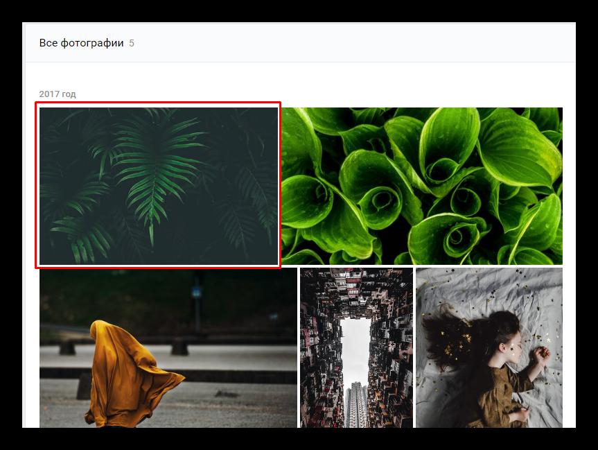 Выбор фотографии группы Вконтакте для массового удаления с помощью скрипта