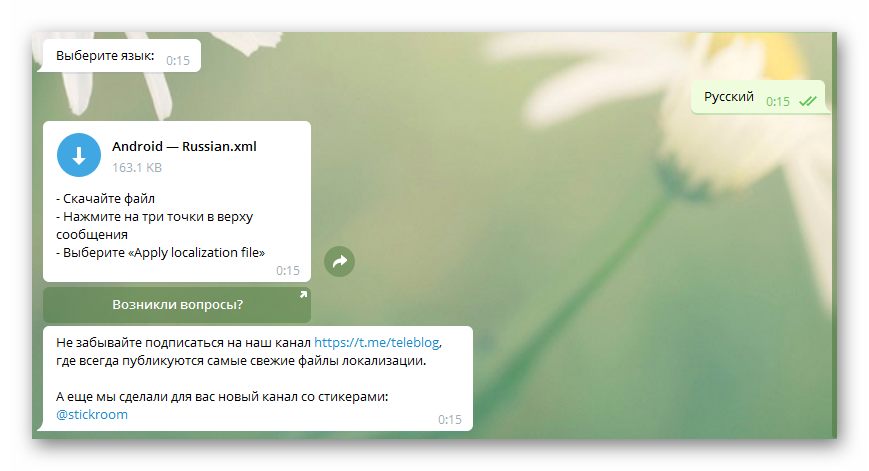Окно выполненных команд бота робота Антона