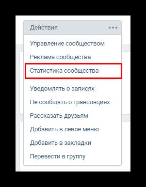 Отображение статистики группы вконтакте