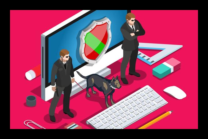 Иконка защиты компьютера антивирусной системой