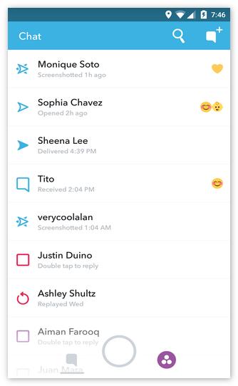 Контакты Snapchat