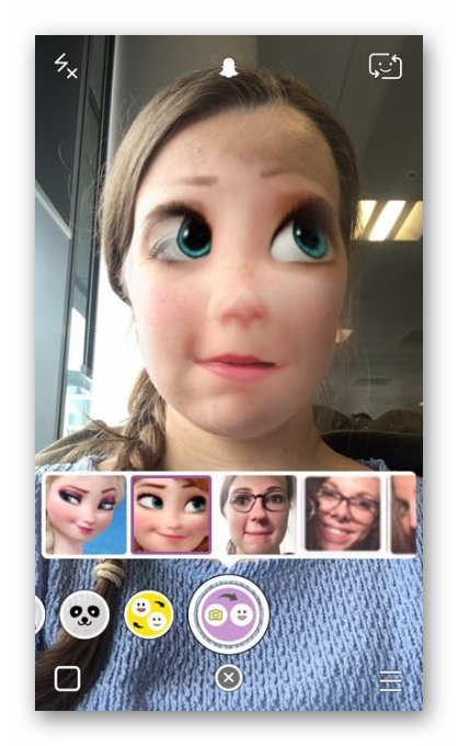Линзы Snapchat