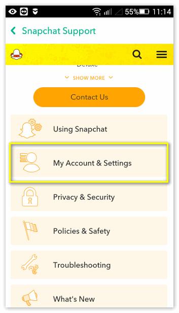 Акк Snapchat