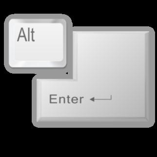 Alt Enter