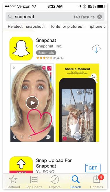 AppStore Snapchat