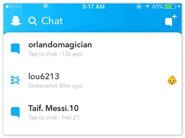 Чат Snapchat
