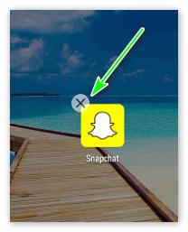 Крестик на Snapchat