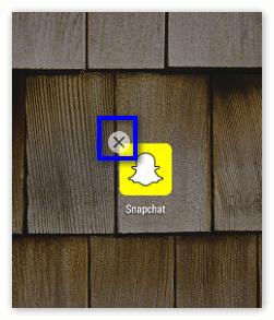 Крестик Snapchat