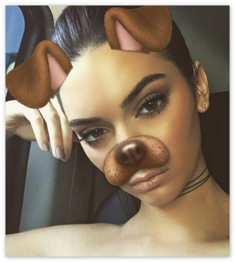 Линза в Snapchat