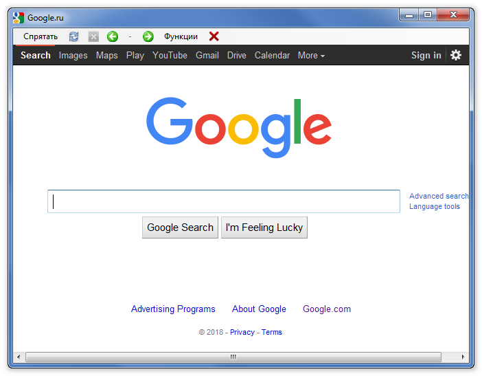 Поиск в Google Браузер ВКонтакте