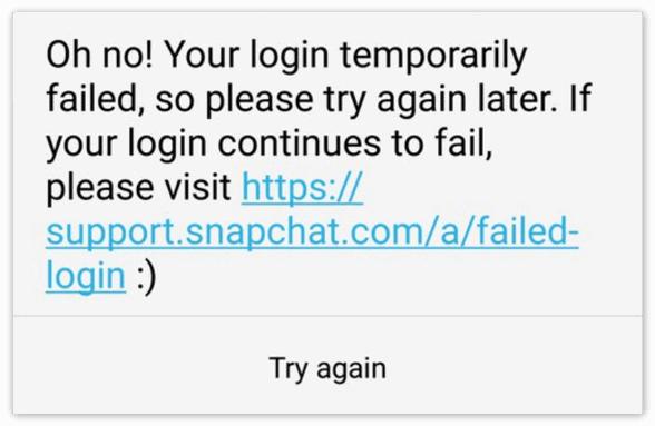 Проблема 2 Snapchat
