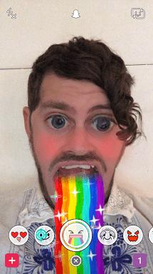Радуга в Snapchat