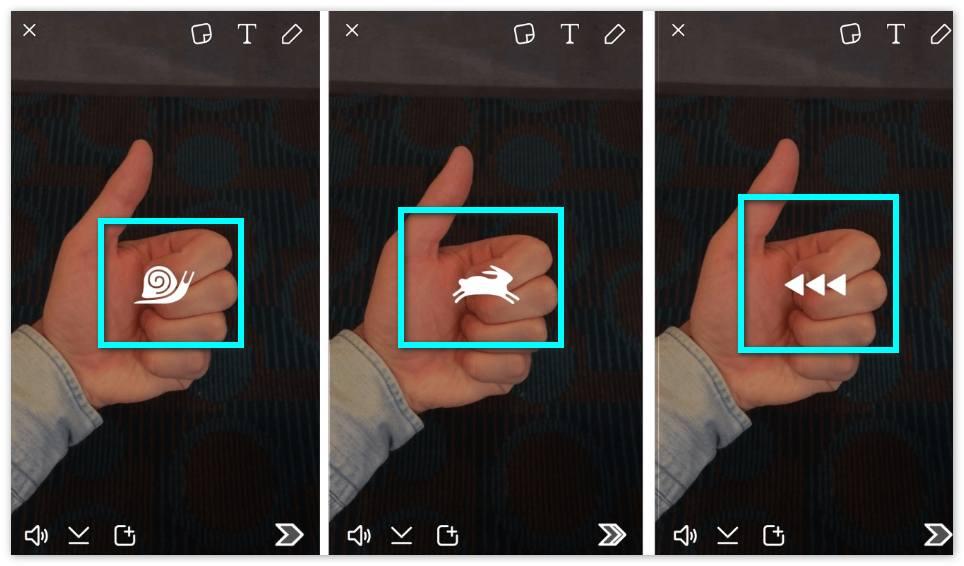 Скорость Snapchat
