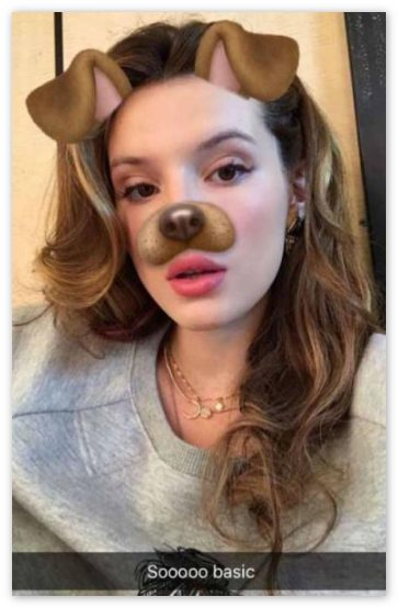 Собачка Snapchat