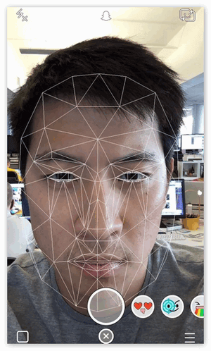 Сетка распознавания лиц в Snapchat