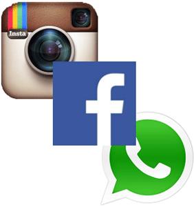 Инстаграмм, Ватсап и Фейсбук