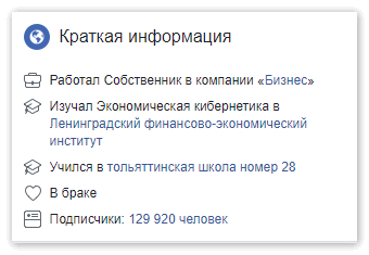 Alik Kokh в Facebook краткая информация