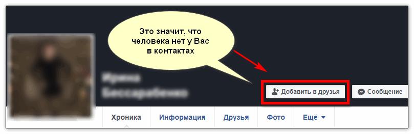 Фейсбук контакты