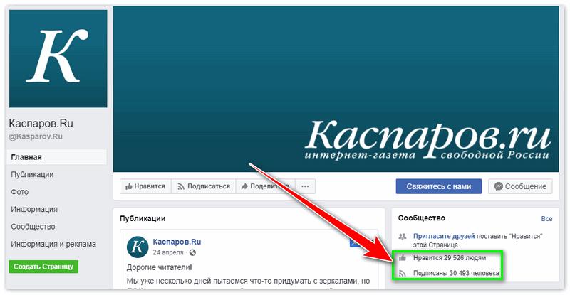 Каспаров.ру - группа в Facebook