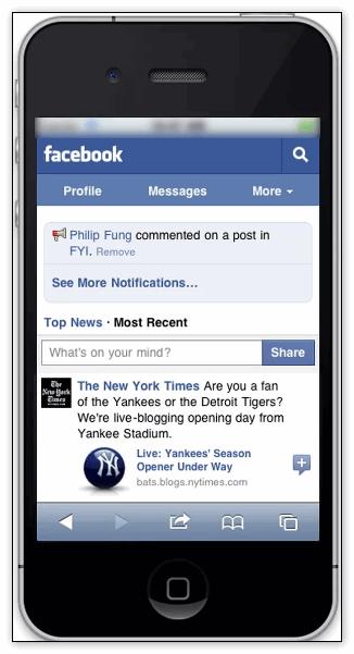 Мобильное приложение фейсбук
