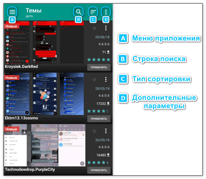 Темы для Plus Messenger