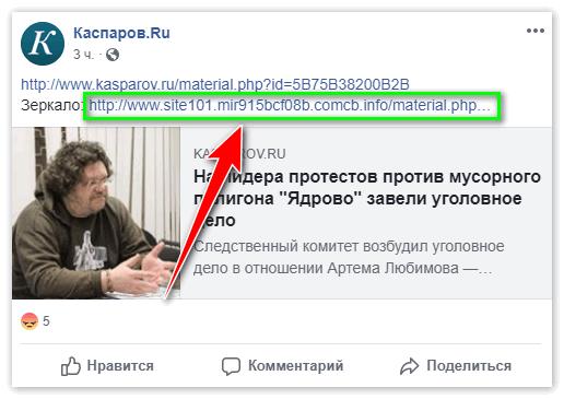 Зеркало статьи в группе Каспаров.ру на Facebook